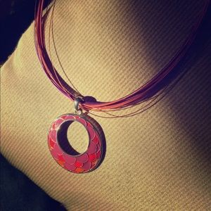 Jewelry - Pink and orange pendant statement necklace (4/$20)